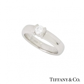 Tiffany & Co. Diamond Etoile Ring in Platinum 0.23ct H/VS2